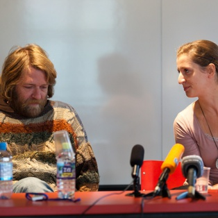 Baptism at the Savica and Flesh or Revelation - press conference <em>Photo: Boštjan Lah</em>