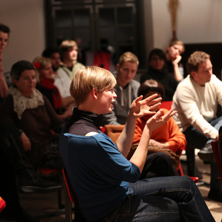 Conversation after the performance - Weekend of the awarded performances <em>Photo: Boštjan Lah</em>