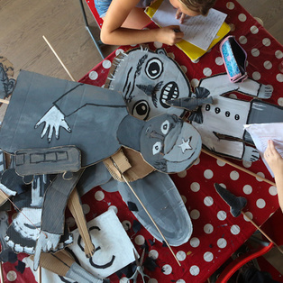 Final Production of the Summer Puppet Pier Children s Puppetry Workshop